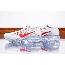 Nike Air Vapormax Flyknit Pure Platinum/Universität Rot Unisex Schuhe 849558-006