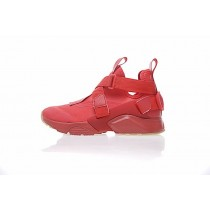 Damen Nike Air Huarache V Mid 833146-606 Schuhe Rot/Weiß/Licht Braun