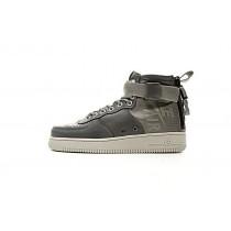 Tief Grau Weiß Schuhe Unisex Nike Sf Air Force 1 Mid Qs 857872-003