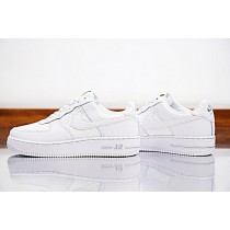 Herren Schuhe Nike Air Force 1 Lv8 'Woven 718152-105 Triple Weiß