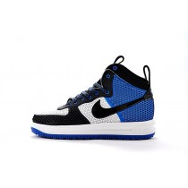 Herren Schwarz/Blau/Weiß 805899-400 Nike Lunar Force 1 Duckboot Schuhe