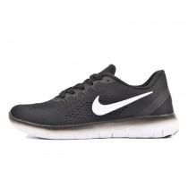 831509-001 Unisex  Nike Free Rn Schwarz Weiß Schuhe