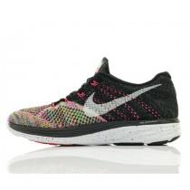 Schuhe Nike Wmns Flyknit Lunar 3 Multi-Color Schwarz Rosa Damen 698182-003