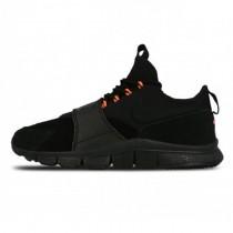 Nike Free Ace Leather Schwarz & Hyper Orange Herren Schuhe 749627-001