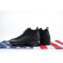 806809-002 Nike Air Max 95 Sneakerboot Herren Schwarz Schuhe