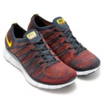 599459-008 Schuhe Herren Anthracite/Laser Orange/Gym Rot/Total Orange Nike Free Flyknit 5.0 Nsw