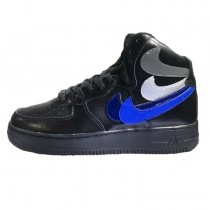 "Nike Air Force 1 High Herren Misplaced Checks"" Schwarz Schuhe"