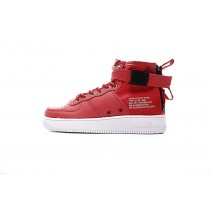 Nike Sf Air Force 1 Mid Qs Unisex Schuhe 917753-006 Chinese Rot And Weiß