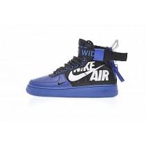 Schuhe 12 O'Clock Boys X Nike Sf Air Force 1 Mid Qs Blau Schwarz Weiß Unisex