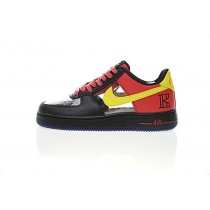 Schwarz Rot Gelb Herren Nike Air Force 1 Low Cmft Signature Schuhe 687843-001