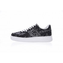 Schuhe Aa5360-086 L.Vx Supreme X Nike Air Force 1 Unisex Denim Schwarz