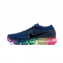 Tief Blau/Rainbow Nike Air Vapormax Flyknit 883274-400 Schuhe Herren