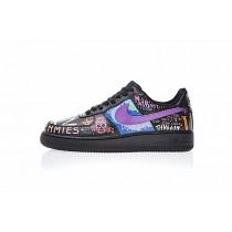 Unisex 923092-100 Edc A$Ap Rocky Vlone X Nike Air Force 1 Low Rock And Roll Schwarz Graffiti Schuhe