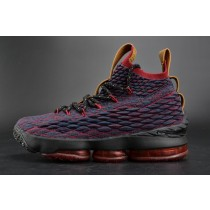 897649-300 Tief Blau/Rot/Schwarz/Gold Herren Nike Lebron 15 Schuhe