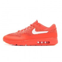 Nike Air Max 1 Ultra Flyknit Bright Crimson Schuhe Unisex 843384-601
