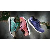 Nike Free Flyknit 5.0 Nsw Damen Schuhe 599459-600 Rosa Flash/Weiß-Volt-Bl Glow