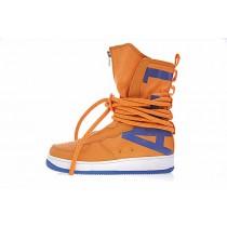 Nike Sf Air Force 1 High Aa1128-201 Unisex Orange/Blau Schuhe