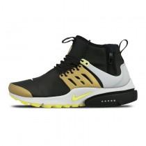 Nike Air Presto Utility Mid Schwarz Gelb 859524-002 Schuhe Herren