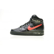 Schuhe Unisex Vlone X Nike Air Force 1 High Collection E Schwarz Rot Blau Aa536-001