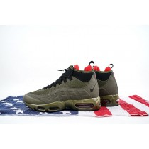 Herren Nike Air Max 95 Sneakerboot Dunkel Loden Schuhe 806809-300