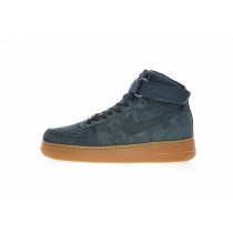 Herren Aa1118-3 Schuhe Vintage Grün Gum Nike Air Force 1 High '07 Lv8 Suede