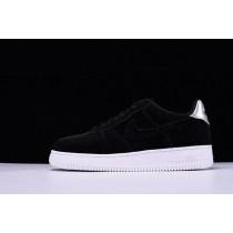Unisex Schwarz Silber 896185-003 Nike Air Force 1 '07 Low Velvet Schuhe