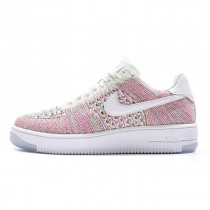 Rosa Weiß Rainbow Schuhe Damen 817420-102 Nike Air Force 1 Ultra Flyknit Low