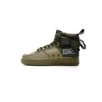 Aa7345-339 Nike Sf Air Force 1 Mid Qs Unisex Army Grün Schuhe