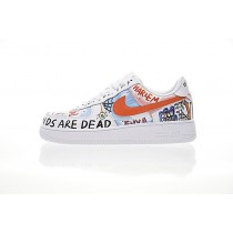 Unisex Hawaii Graffiti 923088-100 Schuhe Edca$Ap Rocky Vlone X Nike Air Force 1 Low