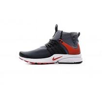 Schuhe Nike Air Presto Mid Utility 859524-004 Herren Grau/Schwarz/Rot
