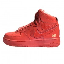 "Schuhe Herren Nike Air Force 1 High Misplaced Checks"" Rot"