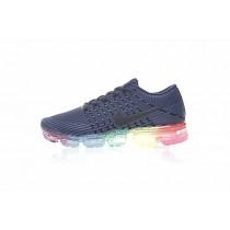 Nike Air Vapormax Flyknit Unisex 883275-400 Schuhe Tief Blau/Rainbow