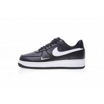 Nike Air Force 1 Low Mini Swoosh 820266-021 Herren Schwarz Weiß Schuhe