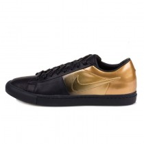 Schuhe 718802-008 Pedro Lourenco X Nike Low Sp Unisex Schwarz Metallic Gold
