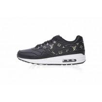 L.V X Nike Air Max 1 Custom Schuhe Schwarz/Beige 908375-109 Herren