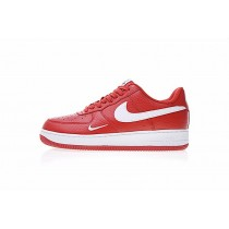 Nike Air Force 1 Low Mini Swoosh 820266-018 Rot Weiß Schuhe Herren