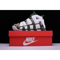 Weiß Grün Camo 921948-602 Unisex Schuhe Bape X Nike Air More Uptempo Og