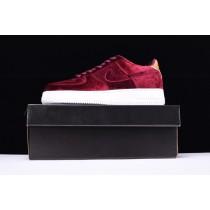 896185-600 Nike Air Force 1 '07 Low Velvet Unisex Wein Rot Schuhe