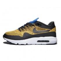 843384-007 Herren Gelb Schwarz  Nike Air Max 1 Ultra Flyknit Schuhe