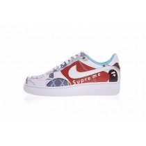 Aq0889-100 Supreme X Kaws X Bape X Nike Air Force 1 Low Schuhe Graffiti Unisex