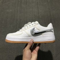 Unisex Weiß Travis Scott X Nike Air Force 1 Af 100 Aq4211-100 Schuhe