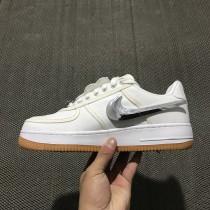 Unisex Weiß Travis Scott X Nike Air Force 1 Af 100 Aq4211-100 Schuhe