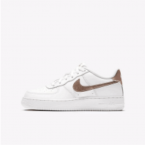 Unisex Nike Air Force 1 Low 314219-129 Schuhe Weiß Metallic Gold