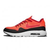 Herren 843384-601 Schuhe Orange Rot Schwarz  Nike Air Max 1 Ultra Flyknit