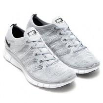 Herren Schuhe Wolf Grau/Schwarz-Dunkel Grau-Weiß Nike Free Flyknit 5.0 Nsw 599459-002