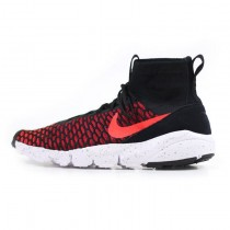 816560-002 Schwarz Rot/Bright Crimson Herren Nike Air Footscape Magista Flyknit Schuhe