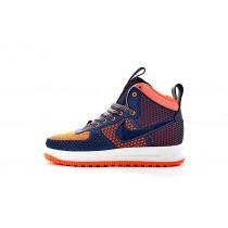 Nike Lunar Force 1 Duckboot Herren 805899-909 Schuhe Tief Blau/Orange Rot/Weiß