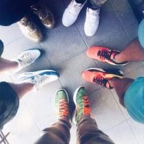 Nike Lunar Flyknit Chukka Parachute Gold/Total Orange 554969-080 Schuhe Herren