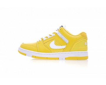 Supreme X Nike Sb Air Force 2 Low Sb Gelb Schuhe Aa0871-717 Unisex