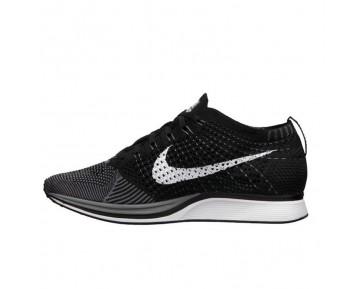 Nike Flyknit Racer Dunkel Grau/Weiß-Schwarz Schuhe Herren